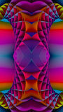 3D Colorful Fractal Background Royalty Free Stock Photography