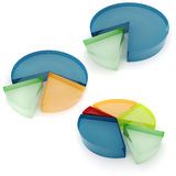 3d colorful graphs. 3d colorful business graph, on white background Stock Photography
