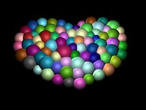 3D-Colorful heart Stock Photography