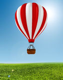 3d colorful hot air balloon. 3d colored hot air balloon Royalty Free Stock Photo