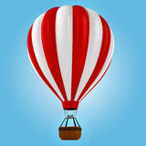 3d colorful hot air balloon. 3d colored hot air balloon Stock Images