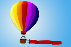 3d colorful hot air balloon. 3d colored hot air balloon Royalty Free Stock Images