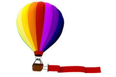 3d colorful hot air balloon. 3d colored hot air balloon Stock Image