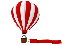 3d colorful hot air balloon. 3d colored hot air balloon Stock Photography