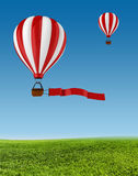 3d colorful hot air balloons Royalty Free Stock Photography