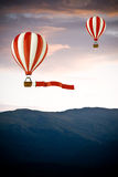 3d colorful hot air balloons Royalty Free Stock Photos