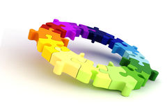 3d colorful puzzle chart wheel Stock Images