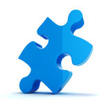 3d colorful puzzle piece Royalty Free Stock Images