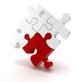 3d colorful puzzle pieces Stock Photo