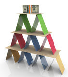 3d colorful pyramid Royalty Free Stock Photography