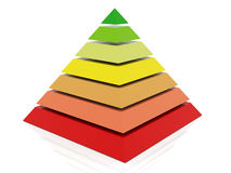 3d colorful pyramid Stock Photo