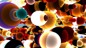 3d Colorful Sphere Background, stock footage stock video