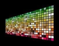 3D colorful squares. Colorful tiny squares with black background Stock Image