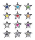 3D Colorful Star Vectors Royalty Free Stock Photo