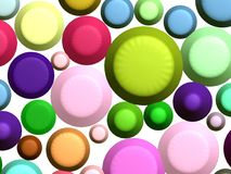 3D - Colorful sweets(wt). 3D - Colorful abstract buttons Royalty Free Stock Photography