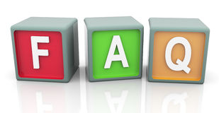3d colorful text 'faq' Royalty Free Stock Images