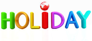 3d colorful text holiday Royalty Free Stock Photography