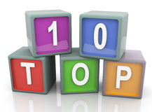3d colorful text 'top 10' Stock Photography