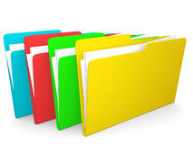 3d colorfull folders Stock Photo