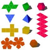 3d colorfull geometryczny kształtów wektor Obrazy Royalty Free