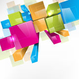 3d colorido obstrui o fundo Imagens de Stock Royalty Free