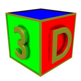 3d colour boxes Stock Images