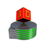 3d colour boxes. Over white royalty free illustration