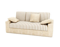 3d.Colour sofa isolated on a white background Royalty Free Stock Photos
