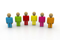 3d colour people Royalty Free Stock Photos