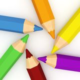 3d colourful pencils Royalty Free Stock Photo