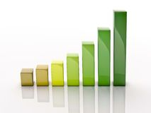 3d column chart Stock Images