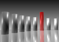 3d columns Royalty Free Stock Images