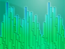 3d columns illustration Royalty Free Stock Photo