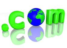 3d com kropkuje zielonego kula ziemska tekst Zdjęcie Royalty Free