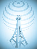3d communication antenna tower. Wireless concept illustration Stock Images