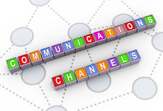 3d communications channels Stock Image