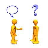 3d communicaton problem Zdjęcia Royalty Free