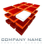 3D Company Logo Stock Photo