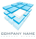3D Company Logo Royalty Free Stock Photo