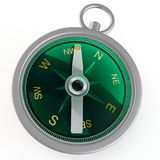 3d compass metallic Royalty Free Stock Photos