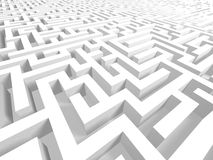 3D Complex Maze - Success or Failure Stock Photos