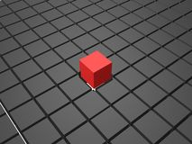 3d composition of cubes. Illustration Royalty Free Stock Image