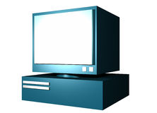 3D Computer. A neatly rendered three dimensional computer royalty free illustration