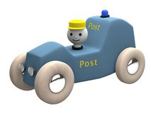 3D Computer generated post toy car Royalty Free Stock Images