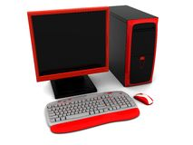 3d computer red Stock Photo