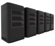 3d computer servers Royalty Free Stock Photos
