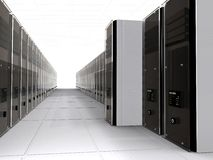 3d computer servers Stock Image