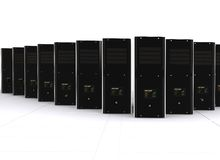 3d computer servers Stock Photography