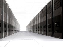 3d computer servers in perspective Royalty Free Stock Images