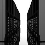 3d computer servers in a row Stock Photo